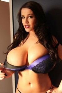 Leanne drops her bra shows her super large breasts