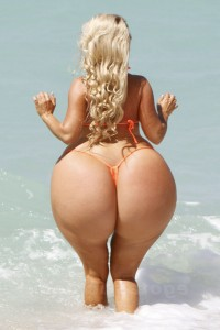 Huge ass Big butt Blonde